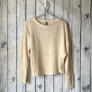 ANTHROPOLOGIE | cropped long sleeve thermal tee